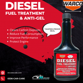Warco Diesel Fuel Treatment and Anti Gel, Cleans And Lubricates Fuel System